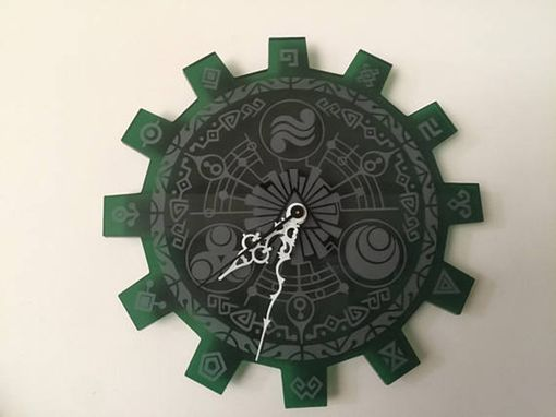 Custom Made Legend Of Zelda Gate Of Time Green Acrylic Laser Cut Clock