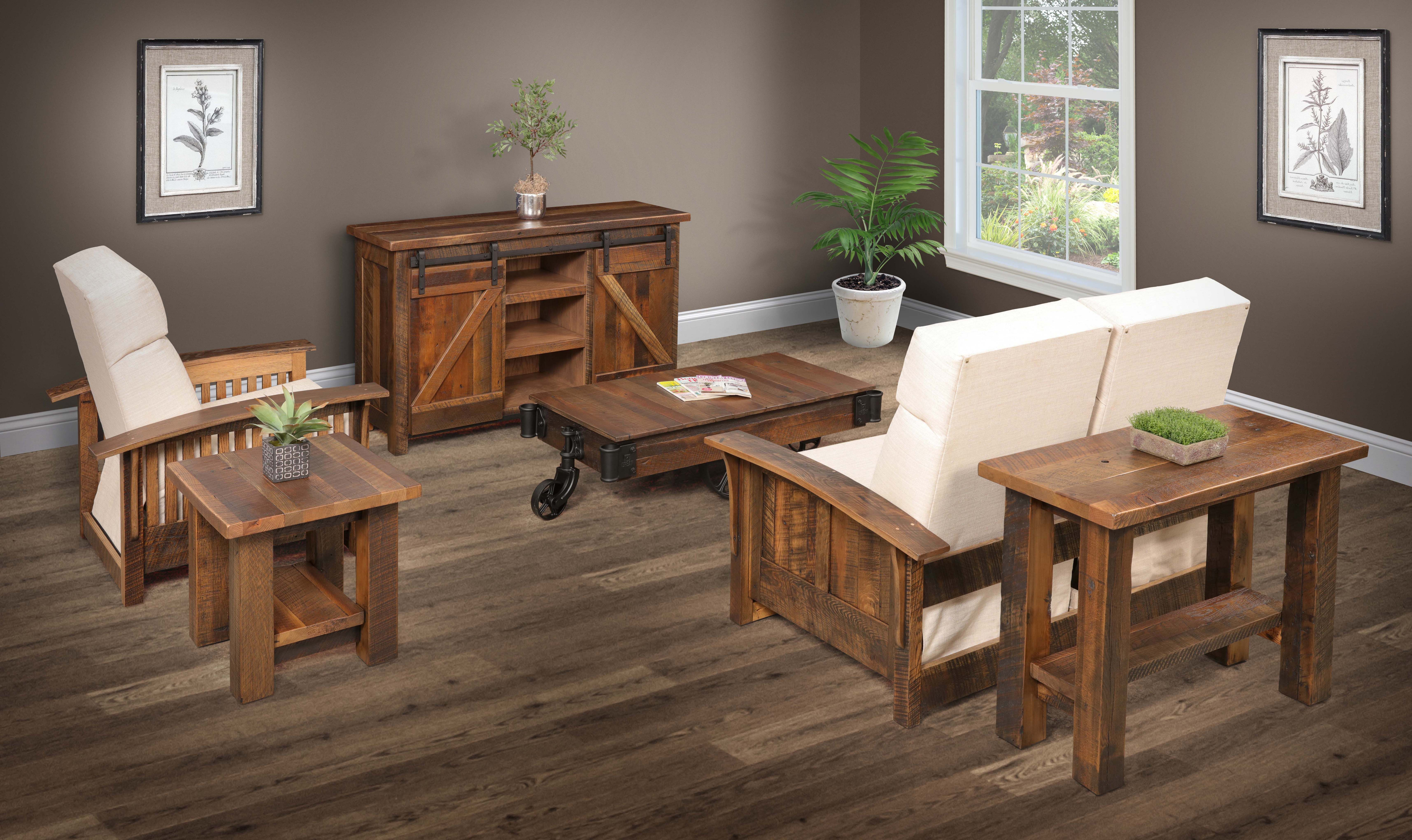 Buy A Custom Barnwood Living Room Suite Made To Order