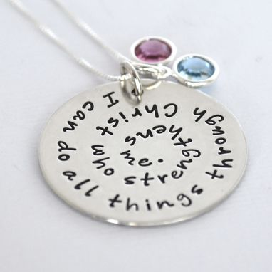 Custom Made I Can Do All Things Through Christ Who Strengthens Me Necklace