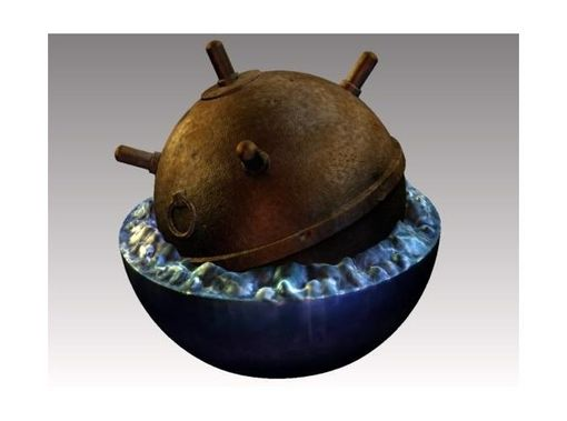 Custom Made Sea Mine Desktop Decoration