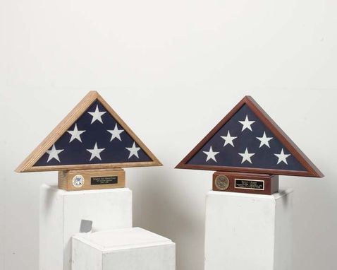 Custom Made Flag And Pedestal Case