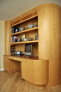 Custom Made Built-In-Desk And Matching Paneling
