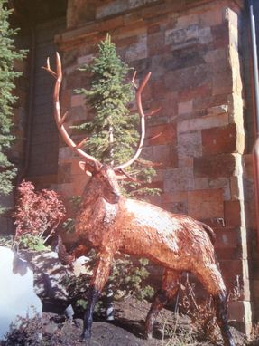 Custom Made 7 Ft Tall Copper Elk Sculpture
