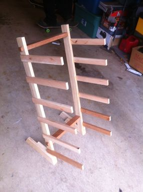 Custom Made Skateboard Rack