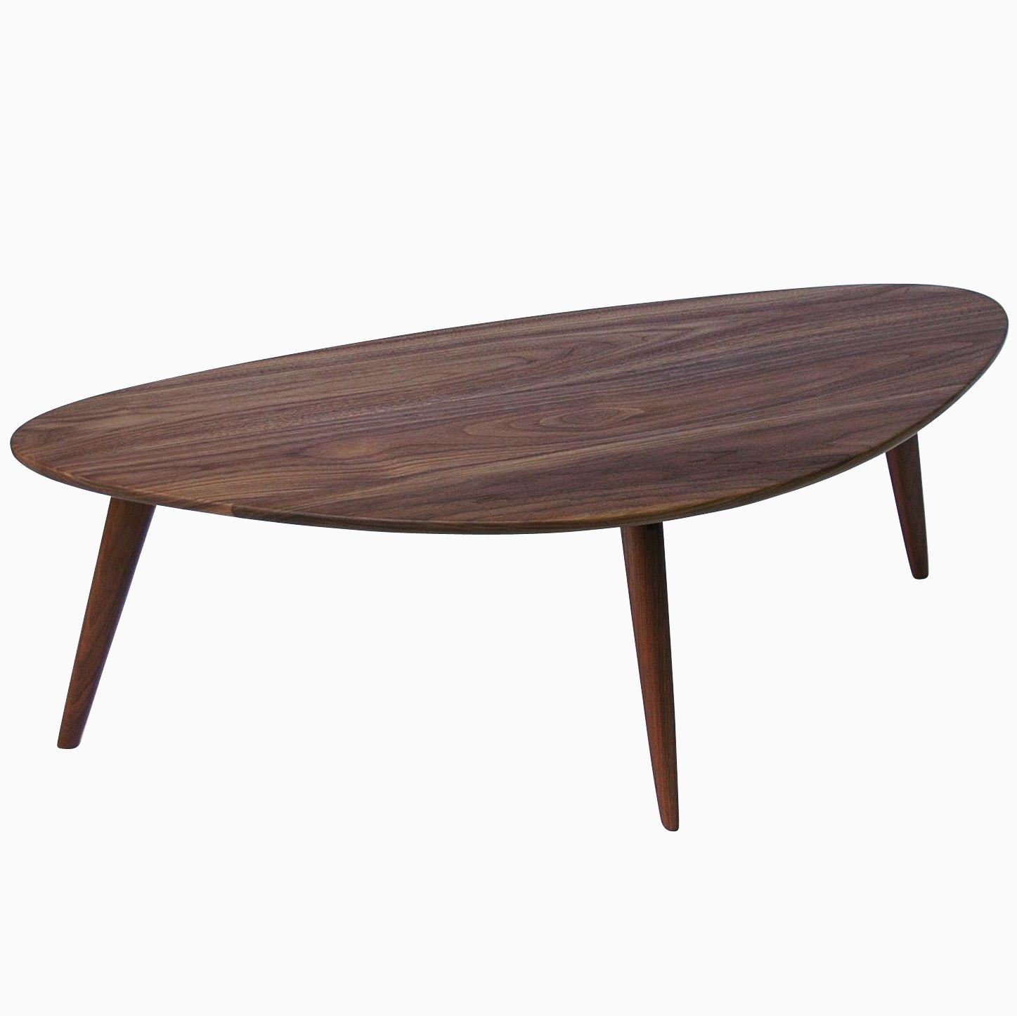 Oliver Modern Walnut Coffee Table