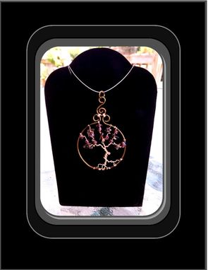 Custom Made Amethyst Jewelry,Tree Of Life Jewelry, Copper Tree Of Life, Tree Of Life Pendants, Family Tree