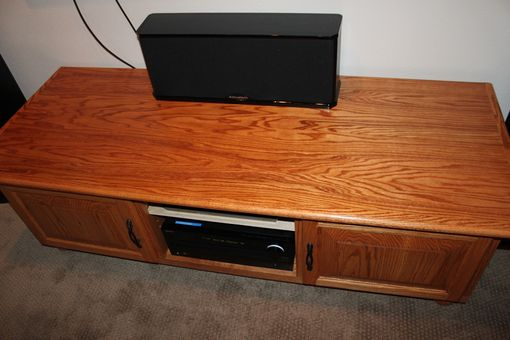 Custom Made Oak Tv Stand