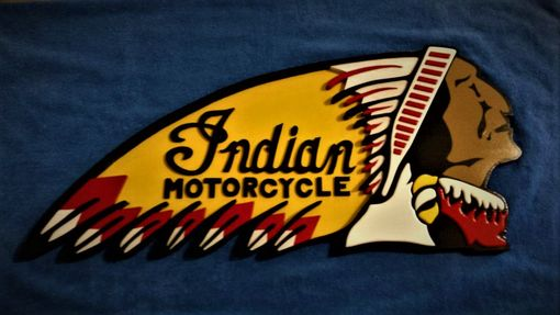 Custom Made Indian Motorcycle Wall Plaque