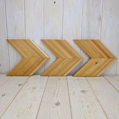 Custom Made Solid Cedar Wood Arrow Chevron- Natural Finish