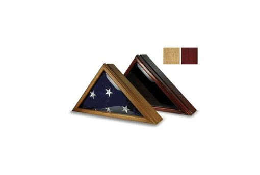 Custom Made Flag Display Case For 5' X 9.5', Wood Burial Flag Display