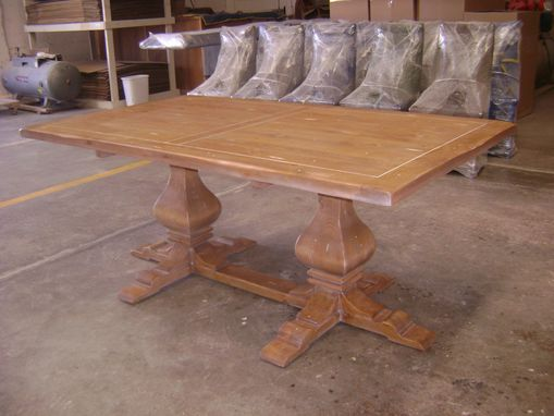Custom Made Pine Trestle Table