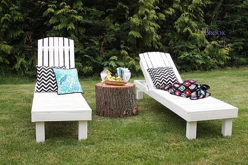 Custom Made Simple Outdoor Chaise Lounge