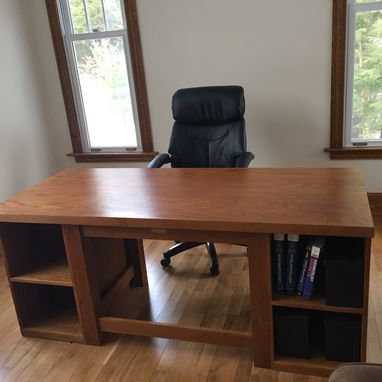 Custom Made Executive Oak Desk