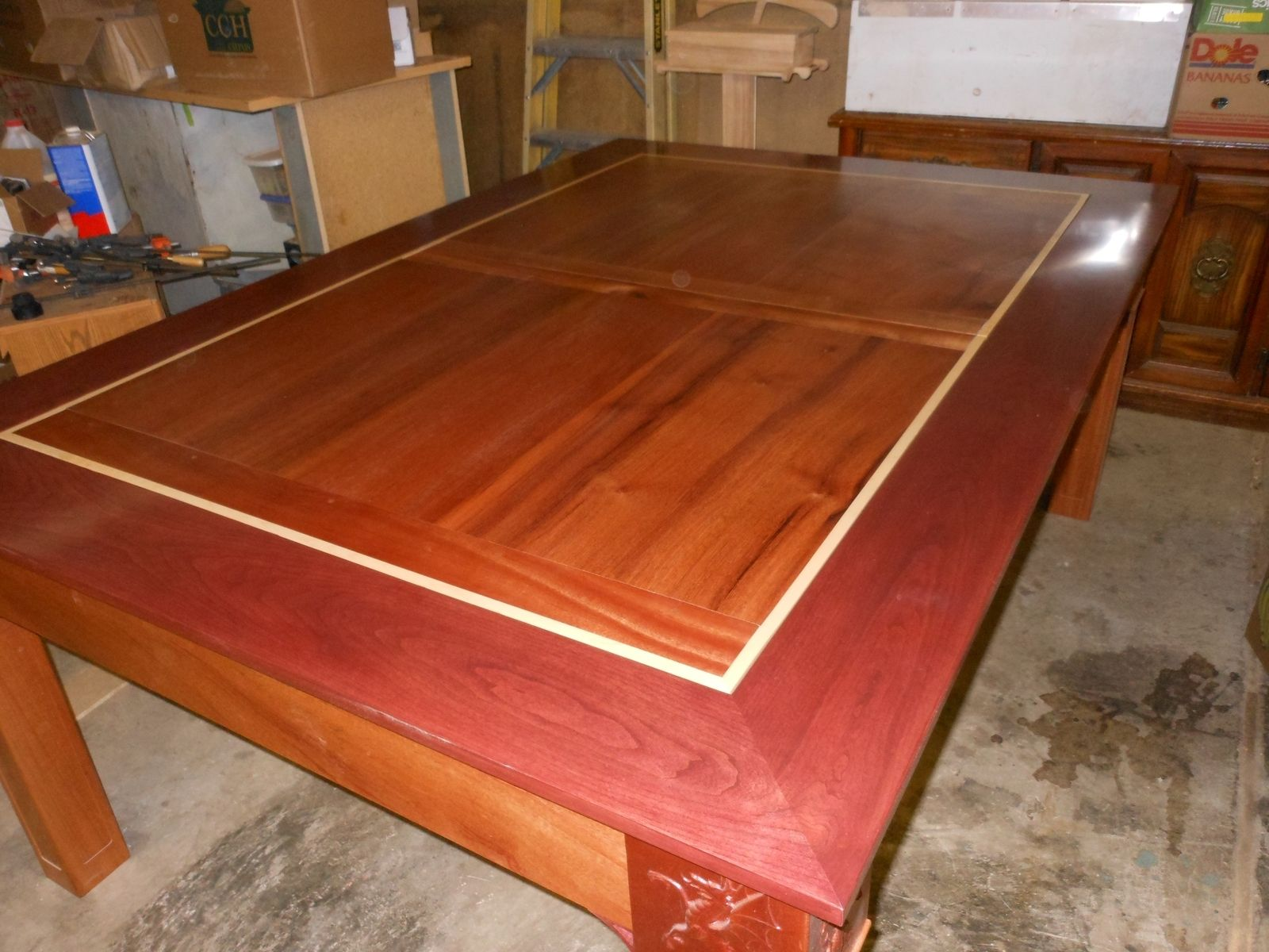 Custom wood dininggaming table by concepts n creations custom made wood dininggaming table geotapseo Gallery