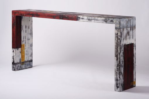 Custom Made Solid Steel Console Table