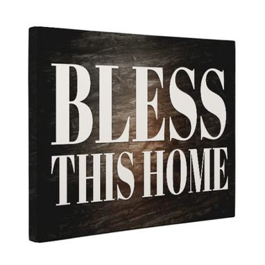 Custom Made Bless This Home Canvas Wall Art