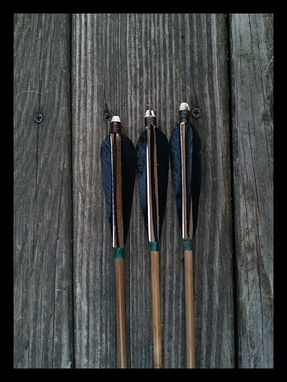 Custom Made 3 Handmade Bamboo Arrows
