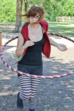 Custom Made Secret Agent Collapsible Stealth Travel Hula Hoop - Weighted Collapsible