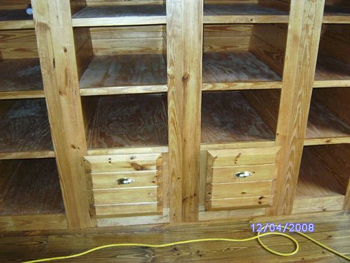 Custom Made Built-In Bookcases With Two File Cabinets