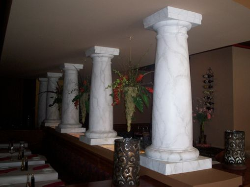 Custom Made Faux Marble Finish On Columns.
