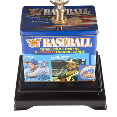 Custom Made Vintage Baseball Trading Card Box Upcycled Lamp