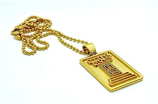 Custom Made Gold Plated Silver Logo Pendant