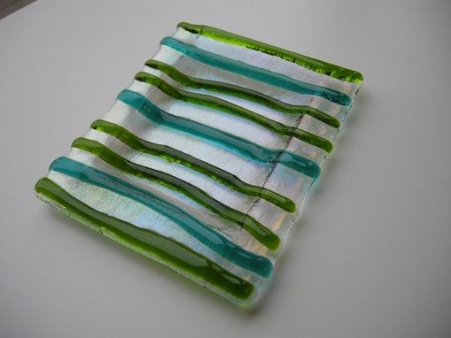 Custom Made Green Glass Soap Dish