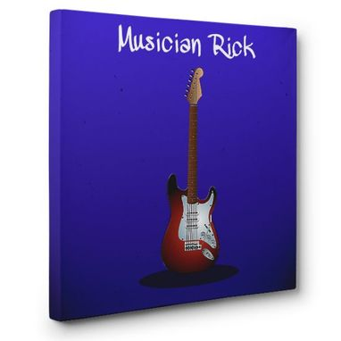 Custom Made Musician Canvas Wall Art
