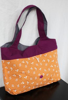 Custom Made Fold Up Travel Bag , Market Tote