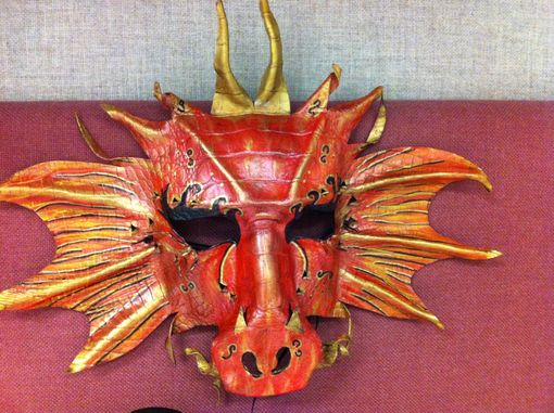 Custom Made Hand-Made Leather Dragon Mask