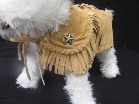 Custom Made Wild West Cowboy Suede Dog Coat