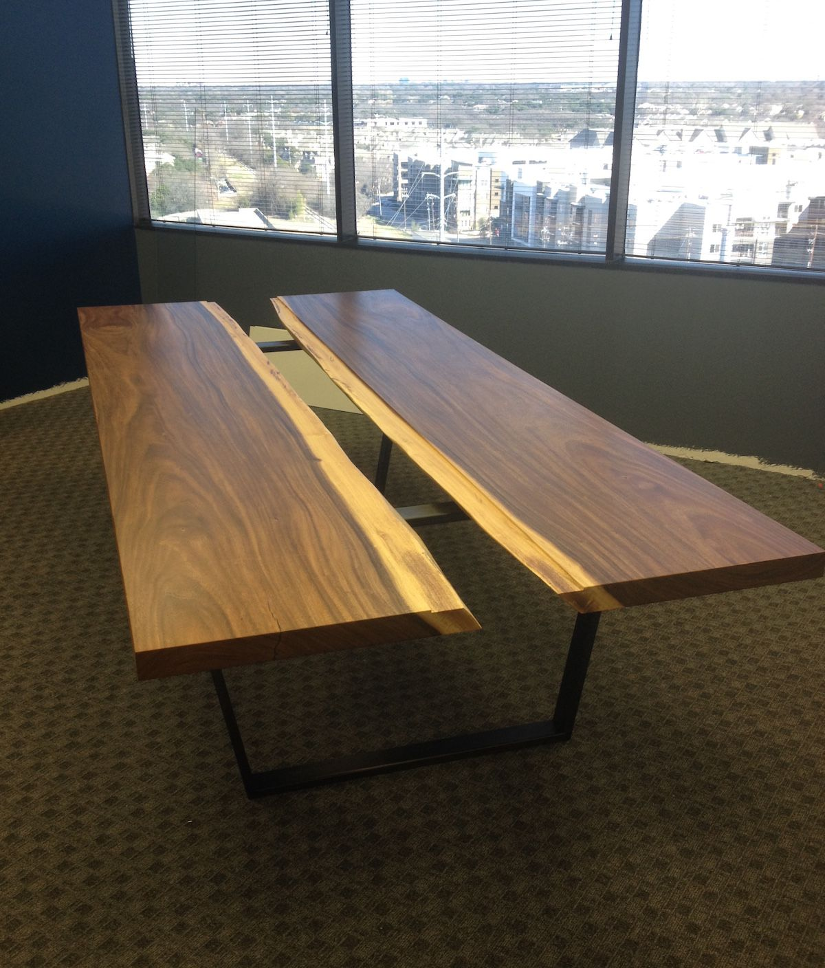 Designer Tables: Custom Modern Contemporary Industrial Conference Table By