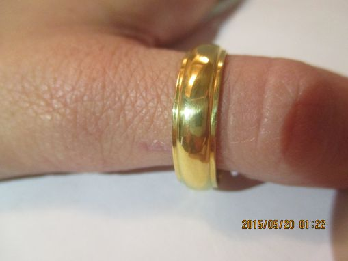 Custom Made 24 Kt. Solid Gold Wedding Band