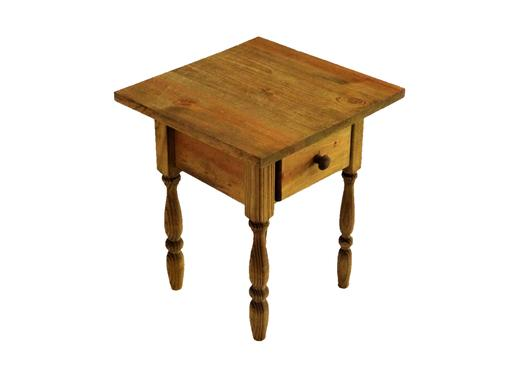 Custom Made Custom Cottage Style End Table With Rectangle Top And Turned Legs