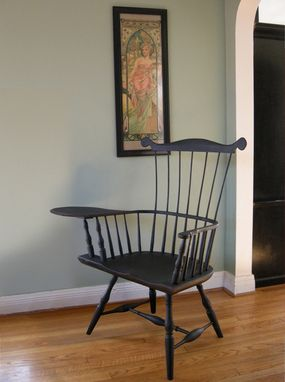 Custom Made Windsor Connecticut Writing Arm Chair