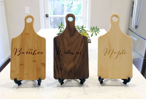Custom Made Personalized Paddle Cutting Board --Cb-Pad-Camdons