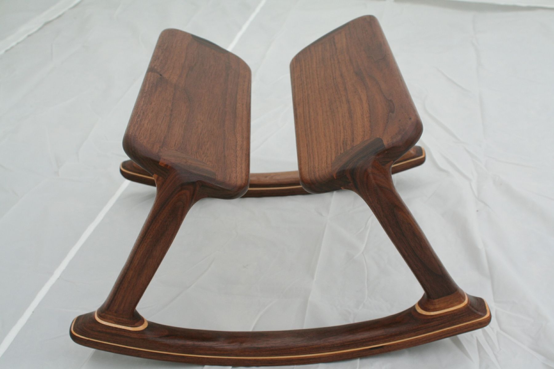 Wooden chair furniture - Walnut Rocking Footstool By Kevin Bosley
