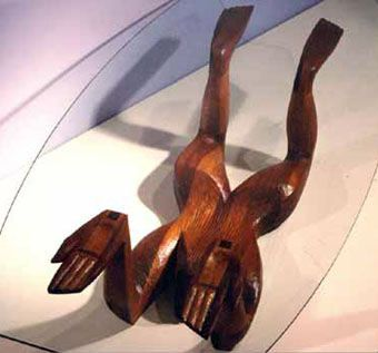 Custom Made Sculptural Mahogany Naiad Table
