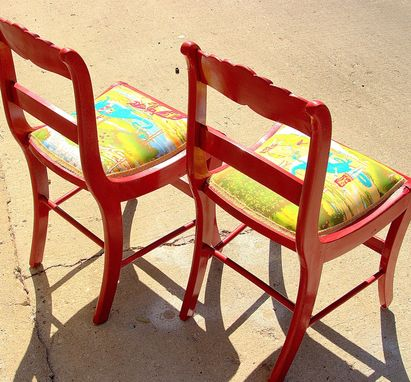 Custom Made Red Childrens Chairs