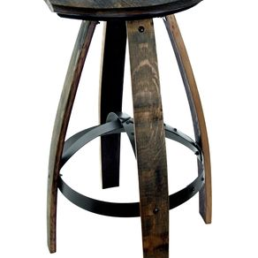 Industrial Style Bar Stools In Weathered