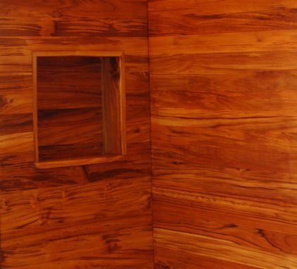 Custom Made Shower Enclosure To Match Wooden Bathtubs In Plantation Teak.