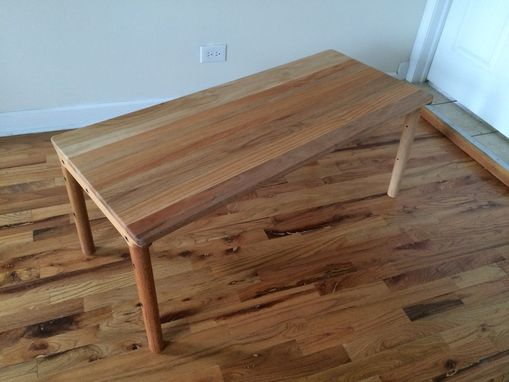 Buy A Hand Crafted Reclaimed Red Oak MidCentury Modern Inspired - Mid century oak coffee table
