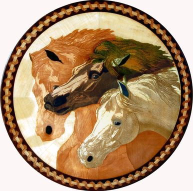 Custom Made Horses Medallion