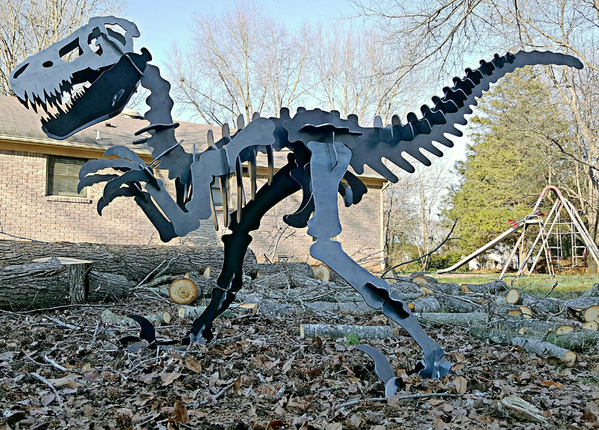Buy Hand Made Big 7 Foot Raptor Velociraptor Dinosaur