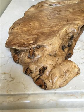 Custom Made Olive-Wood Burl Chopping Or Presentation Board