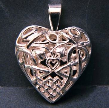 Custom Made Sterling Silver Celtic Knot Pendant