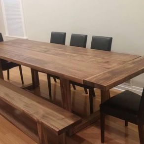 Modern Trestle Dining Table