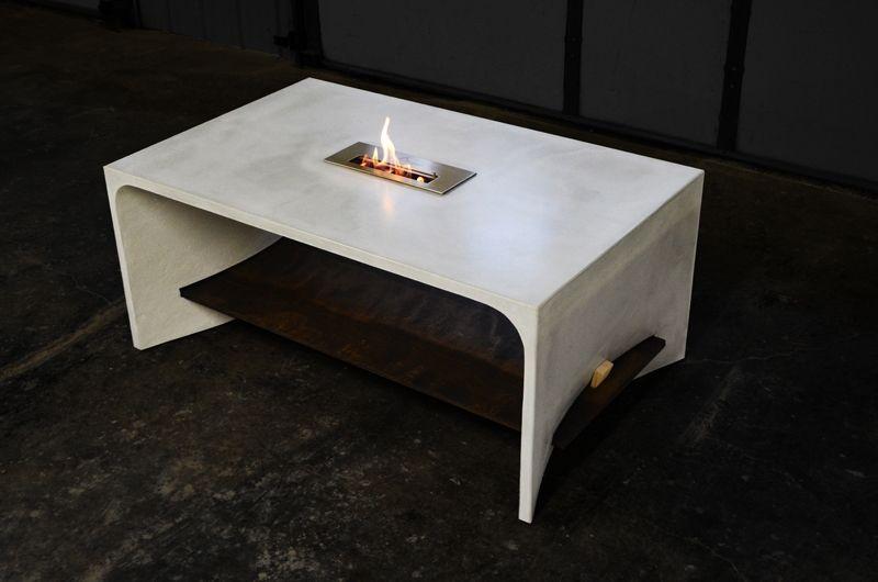 Bio Ethanol Fire Coffee Table - Rascalartsnyc