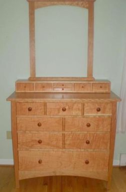 Custom Made Curly Cherry Mule Chest