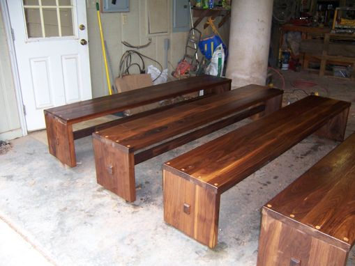 Custom Made Solid Black Walnut Benches